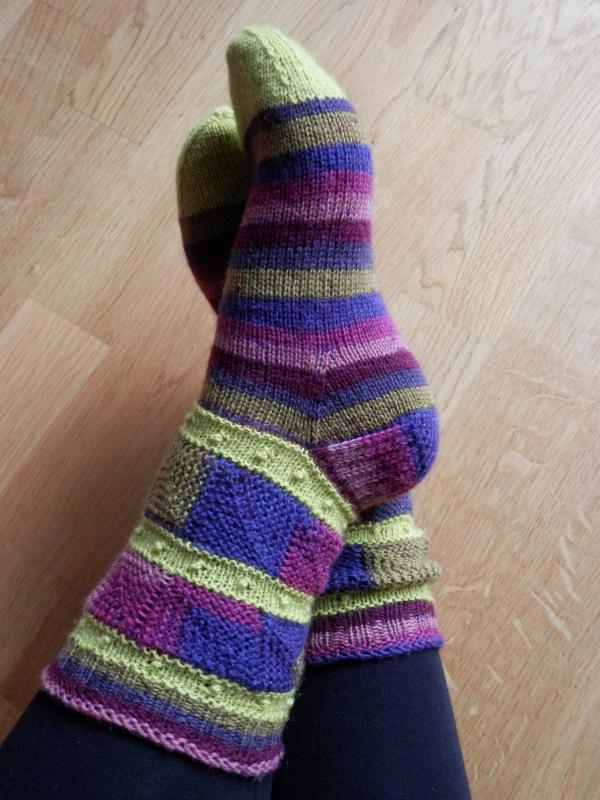 #132 patchwork socks gründl 402
